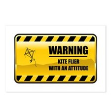 Warning Kite Flyer Postcards (Package of 8)