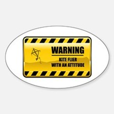 Warning Kite Flyer Oval Decal