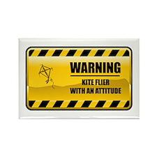 Warning Kite Flyer Rectangle Magnet