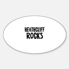 Heathcliff Rocks Oval Decal