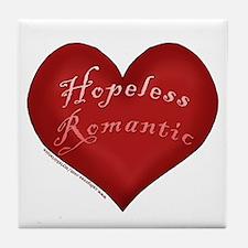 Hopeless Romantic Tile Coaster