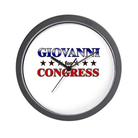 GIOVANNI for congress Wall Clock