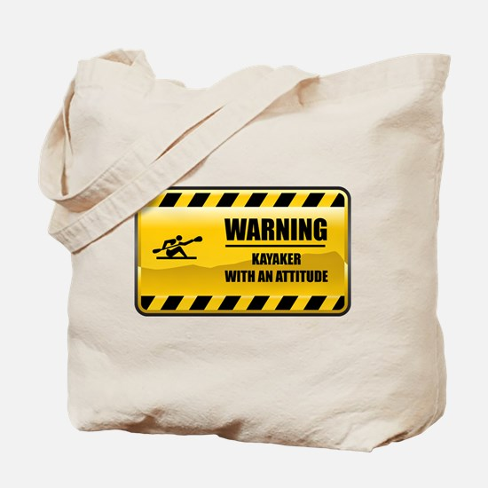 Warning Kayaker Tote Bag