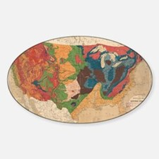 Vintage United States Geological Map (1872 Decal