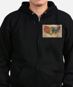 Vintage United States Geological Zip Hoodie (dark)