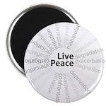Live Peace Magnet