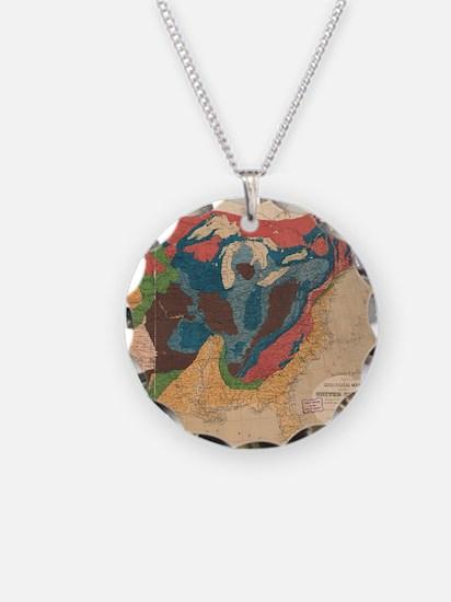 Vintage United States Geolog Necklace