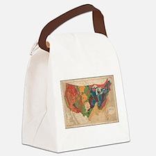 Vintage United States Geological Canvas Lunch Bag