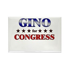GINO for congress Rectangle Magnet