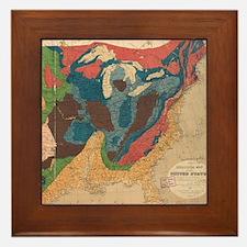 Vintage United States Geological Map ( Framed Tile