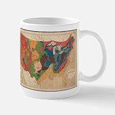 Vintage United States Geological Map (1872) Mugs