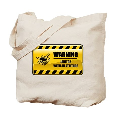 Warning Janitor Tote Bag