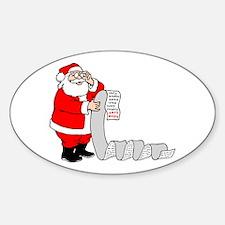 Santa's Nice List Oval Decal