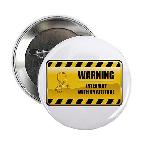 "Warning Internist 2.25"" Button (100 pack)"