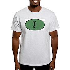 Mens Volleyball (euro-green) T-Shirt