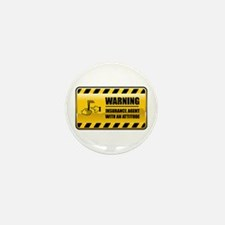 Warning Insurance Agent Mini Button (10 pack)