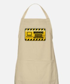 Warning Information Technologist BBQ Apron