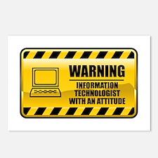 Warning Information Technologist Postcards (Packag