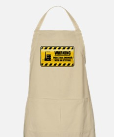 Warning Industrial Engineer BBQ Apron
