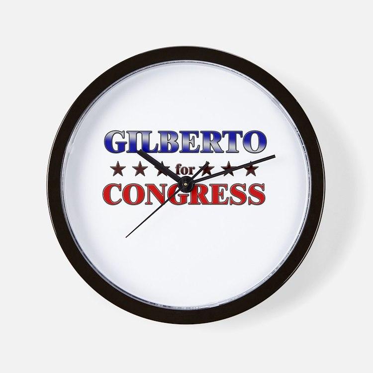GILBERTO for congress Wall Clock