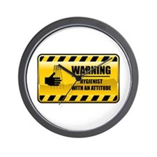 Warning Hygienist Wall Clock
