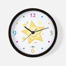 Gold Twinkle Star Wall Clock