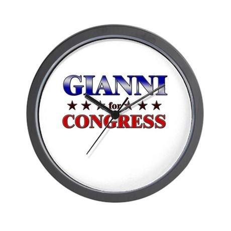 GIANNI for congress Wall Clock