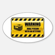Warning HVAC Person Oval Decal