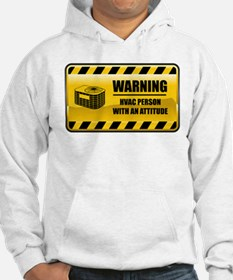 Warning HVAC Person Hoodie