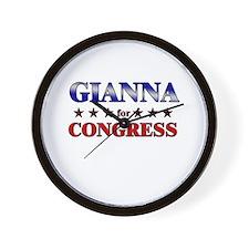GIANNA for congress Wall Clock