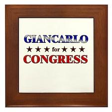 GIANCARLO for congress Framed Tile