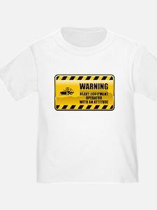 Warning Heavy Equipment Operator T