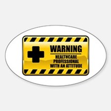 Warning Healthcare Professional Oval Decal