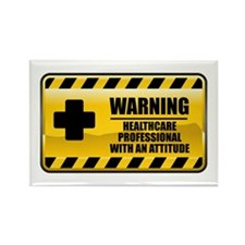 Warning Healthcare Professional Rectangle Magnet