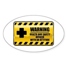Warning Health and Safety Officer Oval Decal