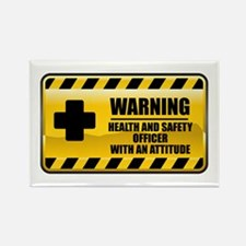 Warning Health and Safety Officer Rectangle Magnet