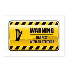 Warning Harpist Postcards (Package of 8)