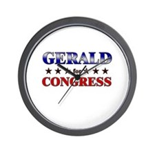 GERALD for congress Wall Clock