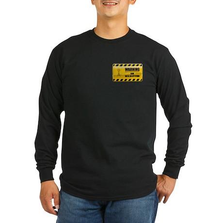 Warning HAM Long Sleeve Dark T-Shirt