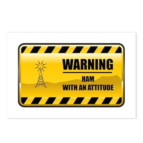 Warning HAM Postcards (Package of 8)