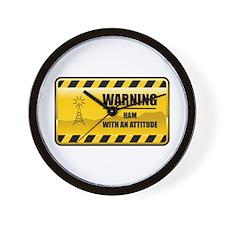 Warning HAM Wall Clock