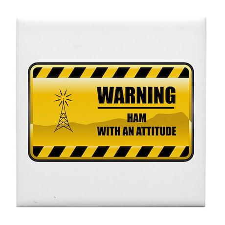 Warning HAM Tile Coaster