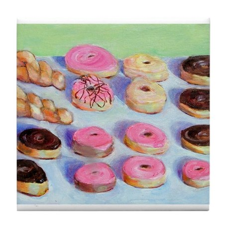 Donuts Tile Coaster
