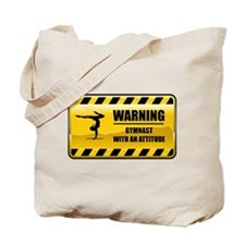 Warning Gymnast Tote Bag