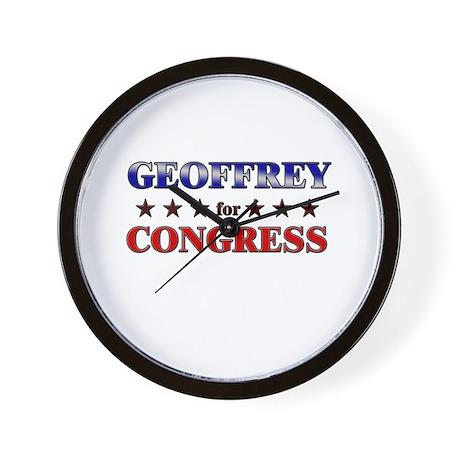 GEOFFREY for congress Wall Clock