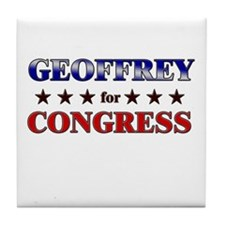 GEOFFREY for congress Tile Coaster