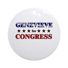 GENEVIEVE for congress Ornament (Round)