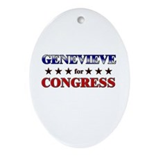 GENEVIEVE for congress Oval Ornament