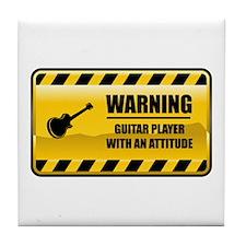 Warning Guitar Player Tile Coaster