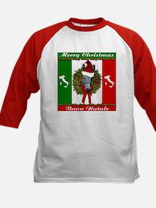 Donkey Buon Natale Christmas Kids Baseball Jersey